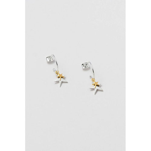 Estella Bartlett Double Star Drop Earrings - Gazebogifts