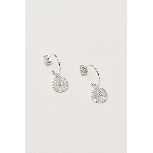 Estella Bartlett Silver Plated Dreamcatcher Drop Earrings - Gazebogifts