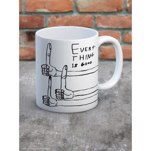 David Shrigley Everything Is Good Boxed Mug - Gazebogifts