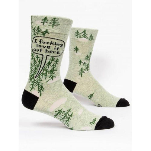 I F**king Love It Out Here M-Crew Socks - Gazebogifts
