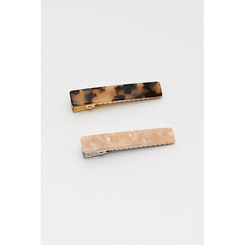 Estella Bartlett Blush Pink Marbled and Tortoiseshell Hair Clip Set - Gazebogifts