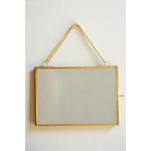 Hanging Glass and Metal Photo Frame