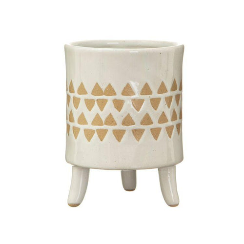 Isabella White Leggy Planter - Gazebogifts