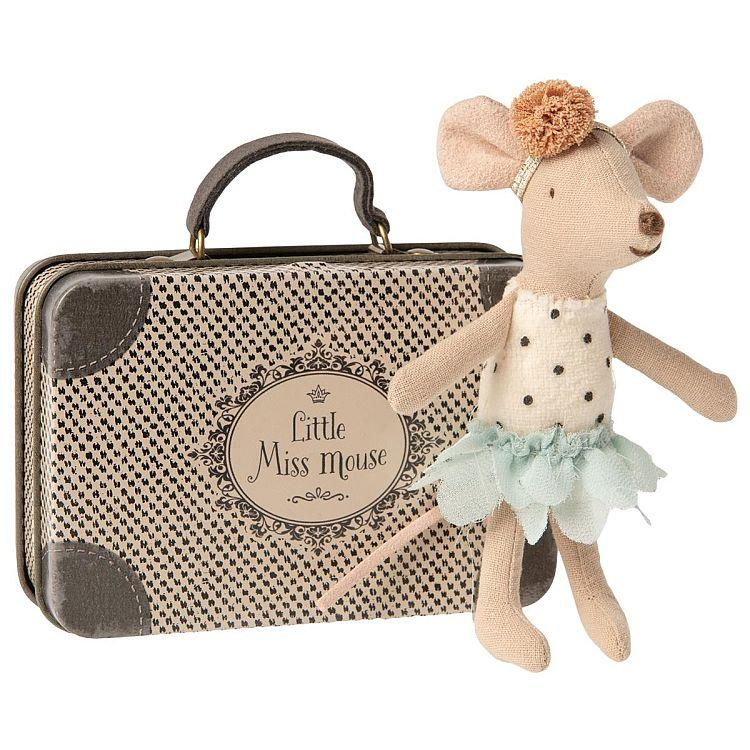 Maileg Little Miss Mouse in Suitcase - Gazebogifts
