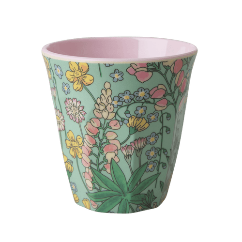Medium Melamine Cup, Lupin Print - Gazebogifts