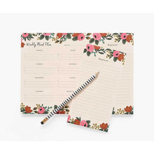 Load image into Gallery viewer, Rifle Paper Co. Rosa Weekly Meal Planner - Gazebogifts