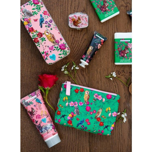 Nathalie Lete Forest Folk Cosmetic Pouch with 30ml Hand Cream, 20ml Hand Sanitiser - Gazebogifts