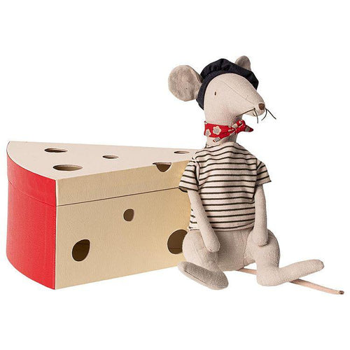 Maileg Rat in Cheese Box - Gazebogifts