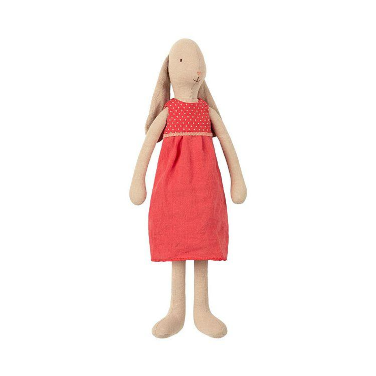 Maileg Bunny, Size 3, Red Dress