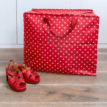Load image into Gallery viewer, Red Retrospot Design Jumbo Storage Bag - Gazebogifts