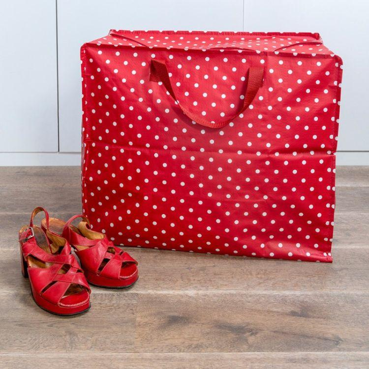 Red Retrospot Design Jumbo Storage Bag - Gazebogifts