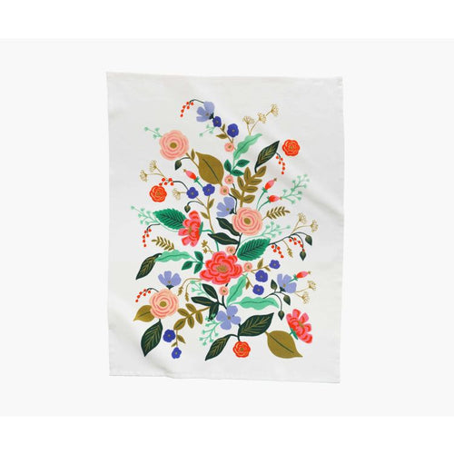 Rifle Paper Co. Floral Vines Tea Towel - Gazebogifts