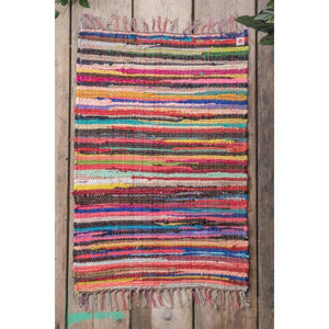 Recycled Small Multi-Coloured Rag Rug - Gazebogifts