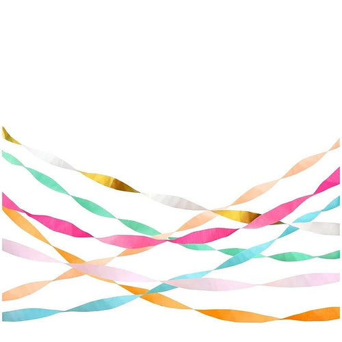 Bright Crepe Paper Streamers - Gazebogifts