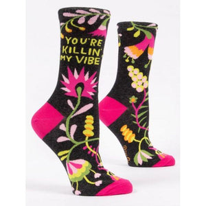 You're Killin' My Vibe W-Crew Socks - Gazebogifts