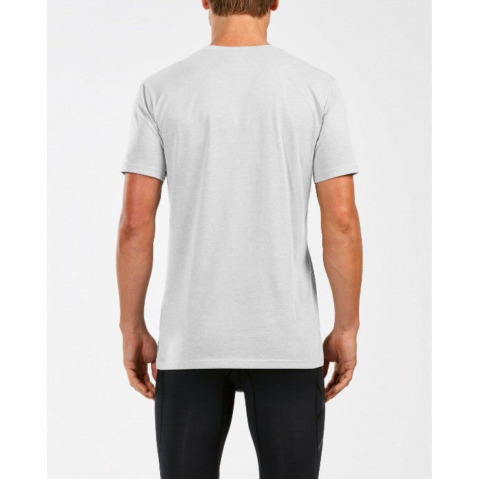 2Xu Men's Urban V Neck Tee-MR5170A (WHT/WHT)