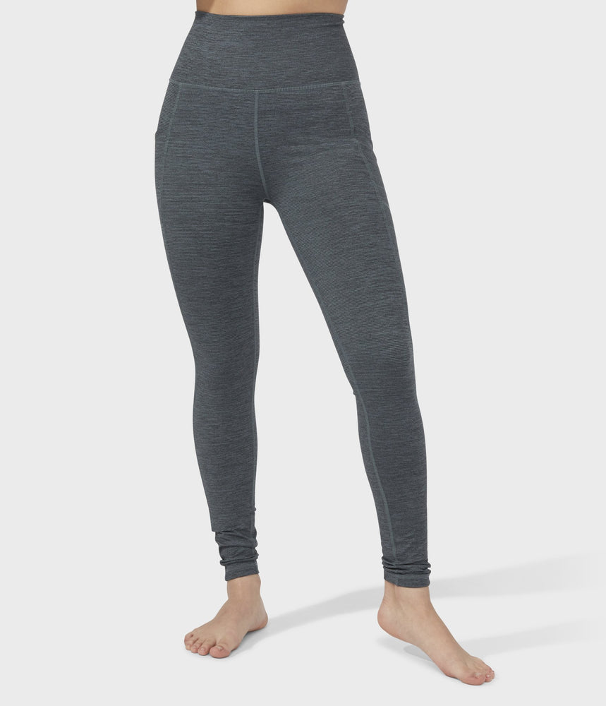 Manduka Women's Essential Pocket Legging - Green Ivy Melange