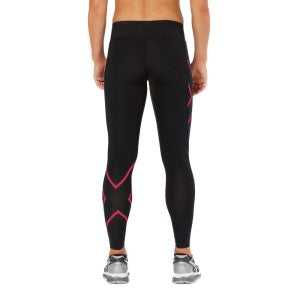 2XU Women's Mid-rise Compression Tight- WA2864B (BLK/PKP)