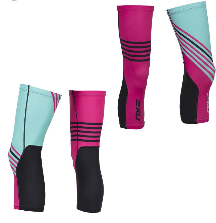 2XU Cycle Knee Warmers-UC4915B (BLK/CCA)