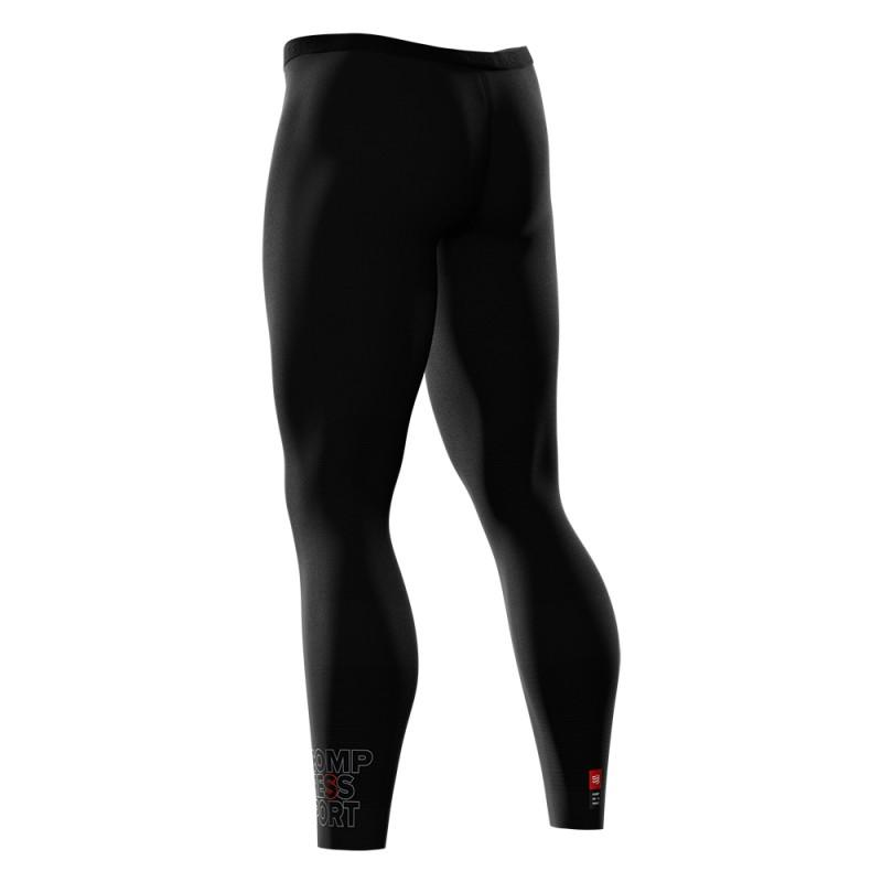 COMPRESSPORT UNISEX RUNNING UNDER CONTROL FULL TIGHTS-BLACK (LGRUN-99)