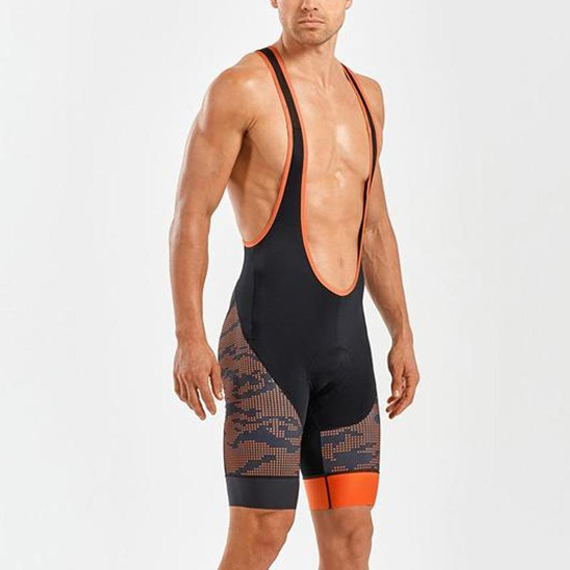 2XU Men's Sub Cycle Bib Shorts- MC4909B (TGT/BLK)