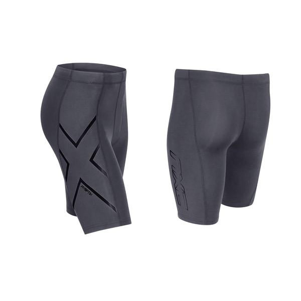 2XU Men's HYOPTIK Compression Shorts MA3519B - Steel Black Reflective