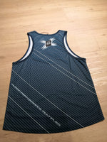 2XU MEN'S RUN SINGLET - Stripe Green