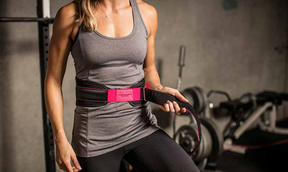 "Harbinger 5"" Women Foam Core Belt - Black/Pink"