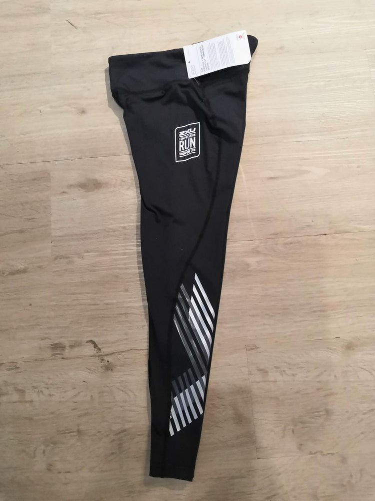 2XU COMP RUN Women Mid-Rise Compression Tights : WA2864B (Silver)