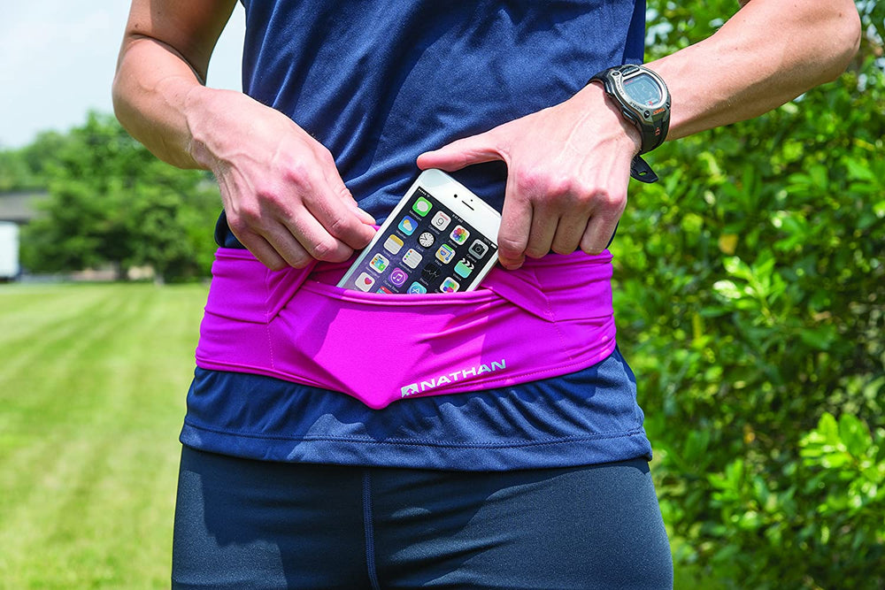 Nathan Hipster Running Belt – Waist Pack Bounce Free and Lightweight. Runners Fanny Pack. Men and Women. iPhone / Samsung / Galaxy / Android and more.