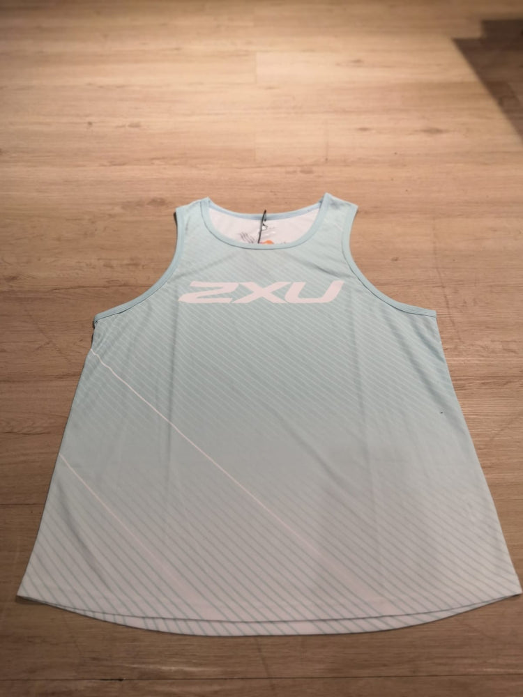 2XU MEN'S RUN SINGLET MX1334A - Light Green