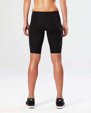 2XU Women's Elite MCS Compression Short-WA3061B (BLK/GLD)