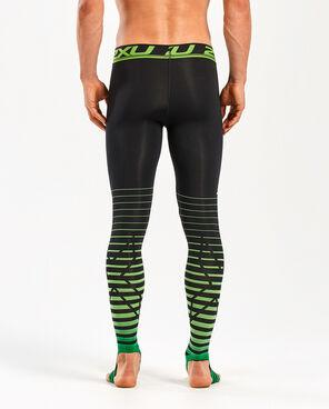 2XU Men's Power Recovery Compression Tight-MA4417B (BLK/GRN)