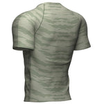 COMPRESSPORT TRAINING SS TSHIRT CAMO STRIPE-SLATE GREEN (AM00026B)