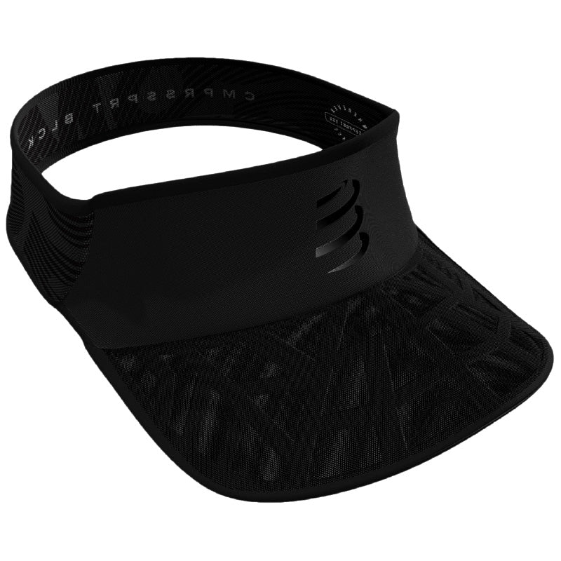 Compressport Spiderweb Ultralight Visor – Black Edition 2020 (CU00030L_990_0TU)