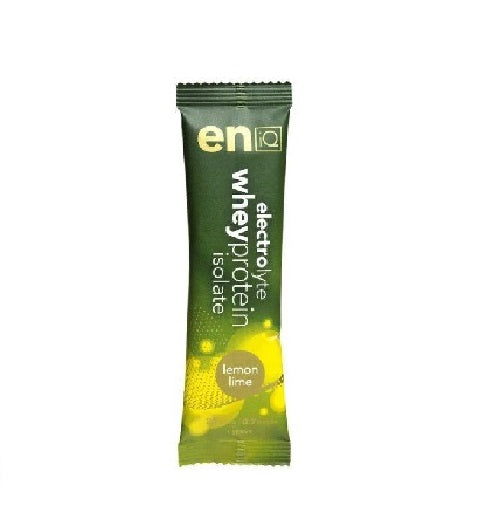 eniQ ELECTROLYTE / WHEY PROTEIN ISOLATE – LEMON LIME (20gm Sachet)