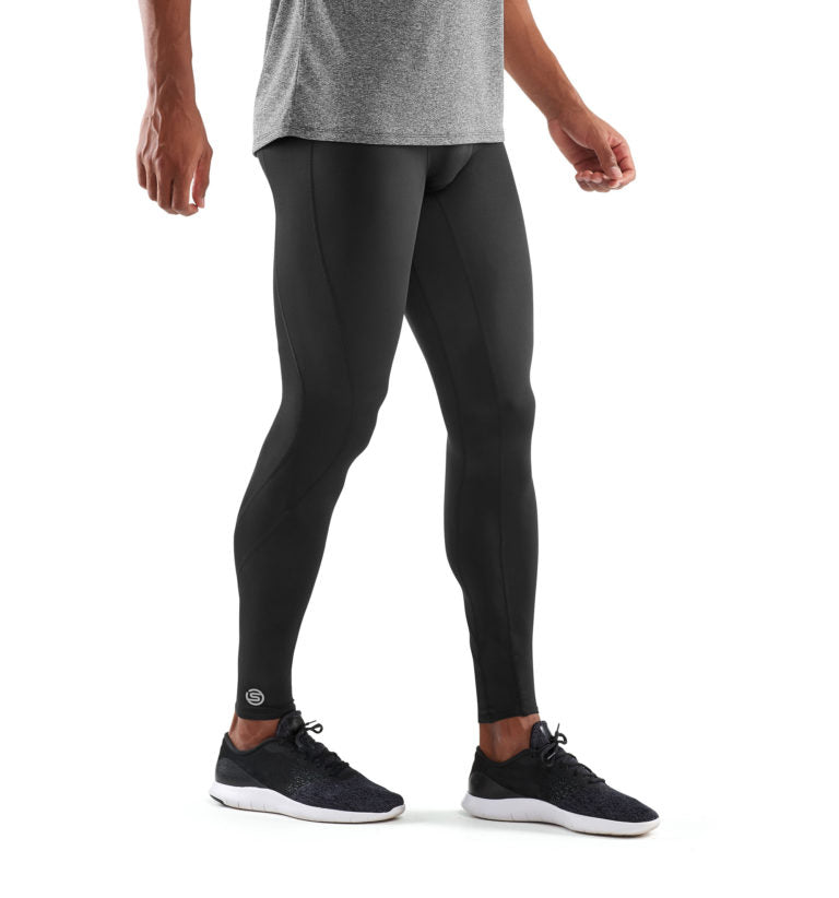 SKINS COMPRESSION DNAMIC MENS LONG TIGHTS BLACK/SILVER
