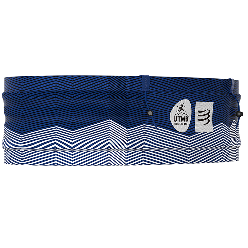COMPRESSPORT ANTI-BOUNCE FREE BELT PRO W/POLE HOLDER BLUE-UTMB SERIES (FBPROUTMB195080)
