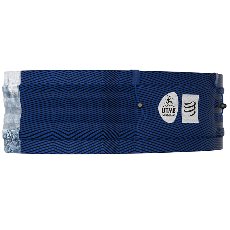 COMPRESSPORT ANTI-BOUNCE FREE BELT PRO W/POLE HOLDER UTMB SERIES - BLUE