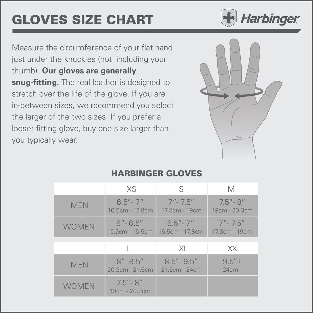 HARBINGER WOMEN'S FLEXFIT STRENGTH GLOVES