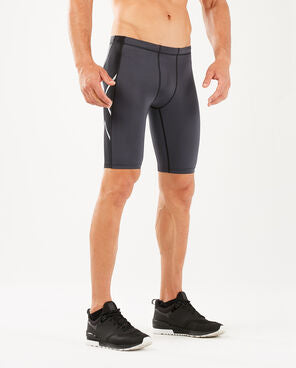 2XU Men's ELITE COMPRESSION SHORT G1 : MA1934B - BLK/STL