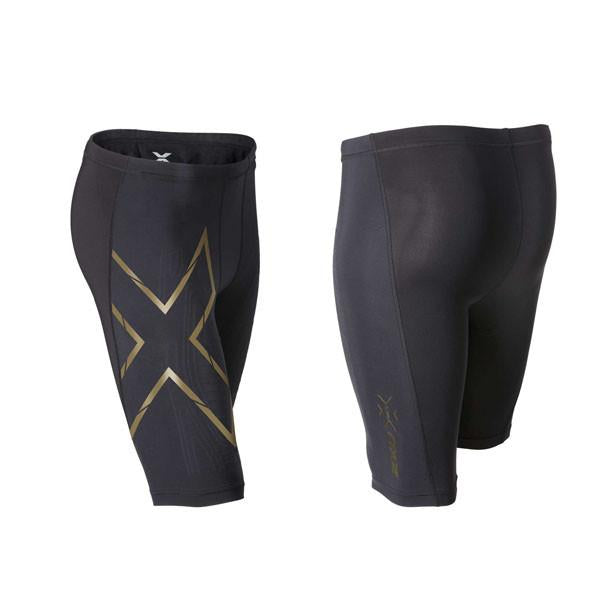2XU Men's Elite MCS Compression Shorts MA3060b  - Black Gold