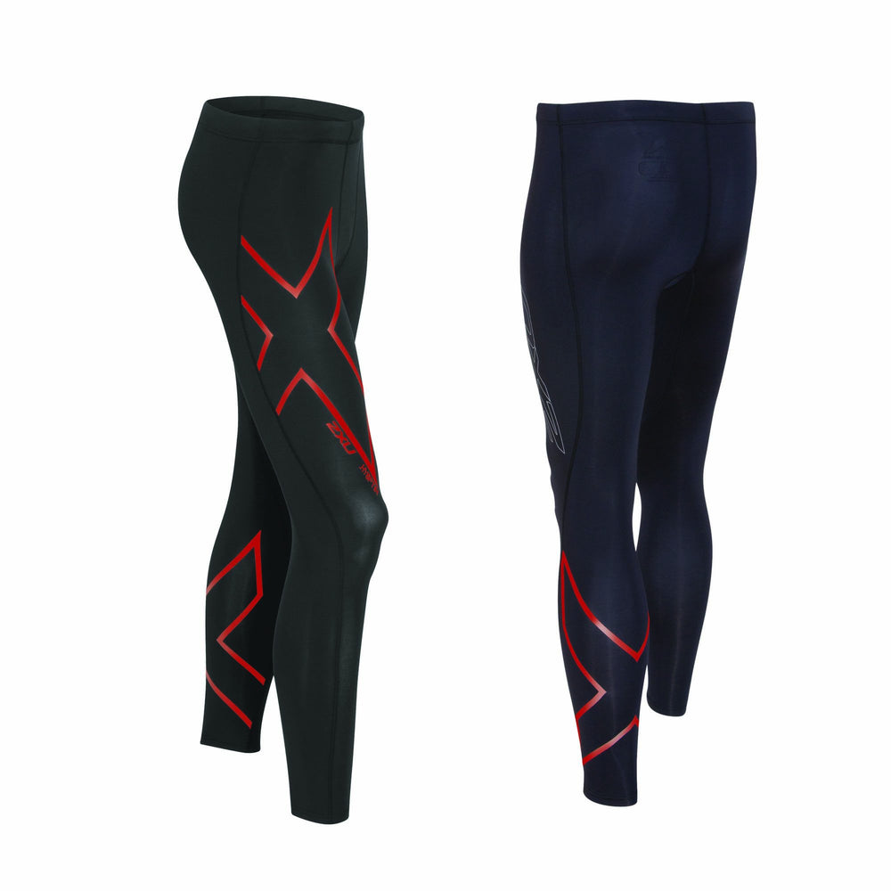 2XU Men's Hyoptik Thermal Compression Tights MA3514B - Black/RRF