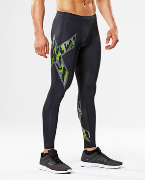 2XU Men's Compression Tights MA3849B BLK/GGC