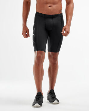 2XU Men's COMPRESSION SHORTS : MA3851B - BLK/NRO