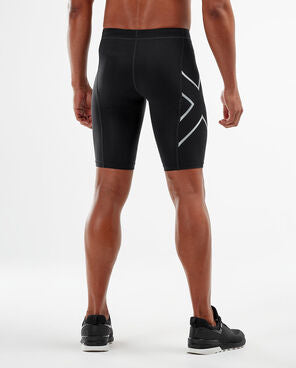 2XU Men's COMPRESSION SHORTS : MA3851B - BLK/SIL