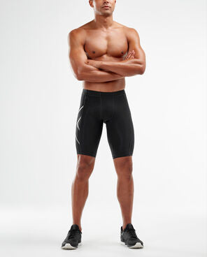 2XU Men's COMPRESSION SHORTS-MA3851B (BLK/SIL)