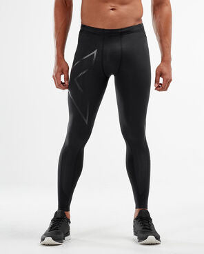 2XU Men's MCS Basketball Compression Tights-MA4215B (BLK/NRO)