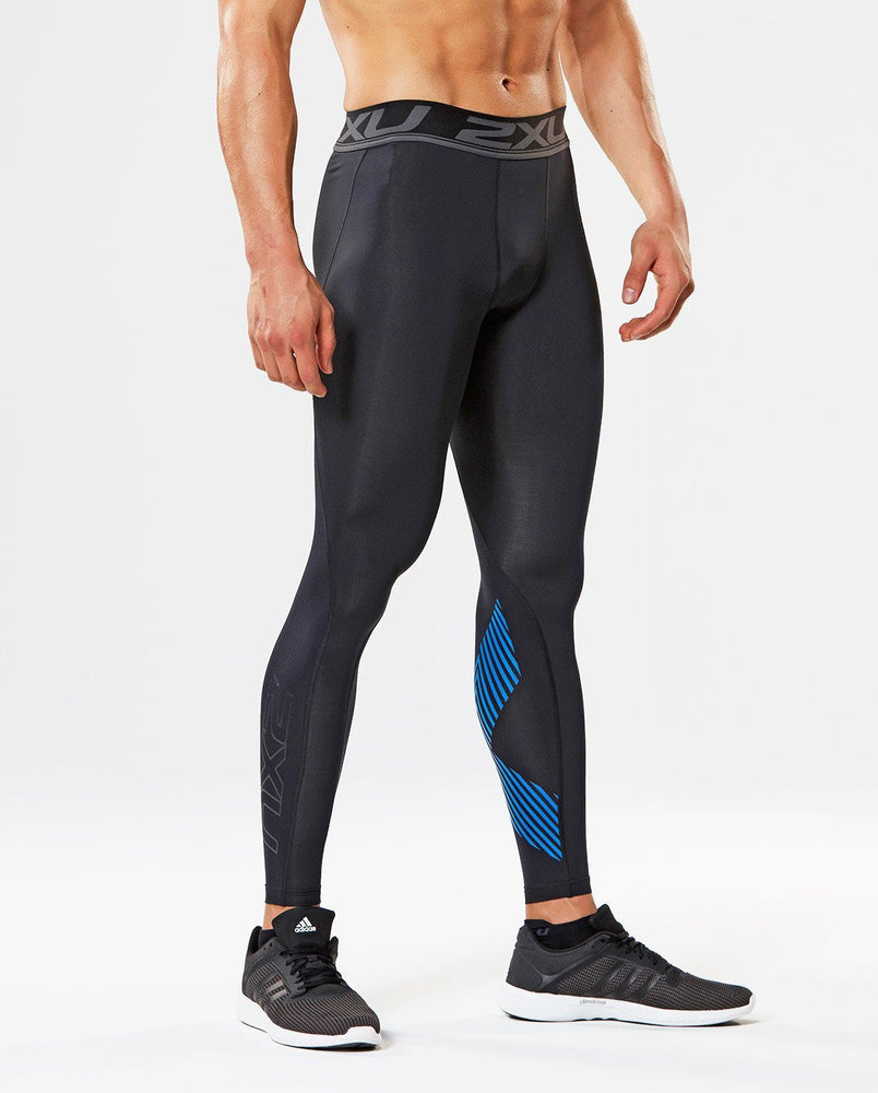 2XU Men's Accelerate Compression Tight-MA4476B (BLK/ASB)