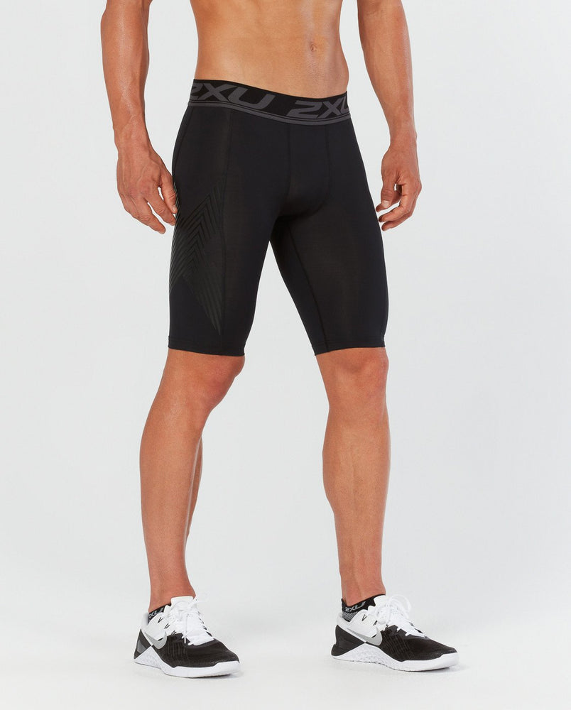 2XU Men's ACCELERATE COMPRESSION SHORTS - MA4478B (BLK/ASN)